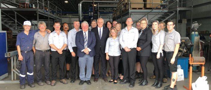 PM Scott Morrison Tours AusProof